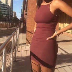 American Apparel Cotton Spandex Square Tank dress